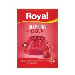 Gelatina en Polvo Royal Cereza x 40 g.