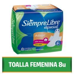 Toalla Higiénica Siempre Libre Especial - Adaptable con Alas x 8 un.
