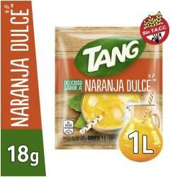 Polvo para preparar jugo Tang Naranja Dulce x 18 g.