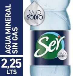 Agua sin gas Ser Baja en sodio x 2,25 lt.