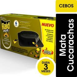 Insecticida Cebo Cucaracha Raid Max x 6 un.