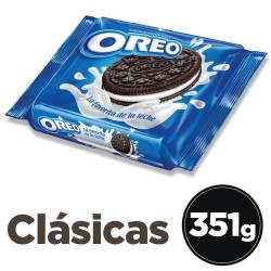 Galletitas Chocolate x 3 un. Rellenas con Vainilla Oreo x 351 g.