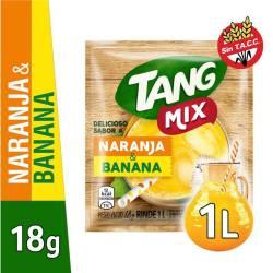 Polvo para preparar jugo Tang Naranja-Banana x 18 g.