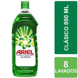 Jabón Líquido Limpieza Impecable Ariel Botella x 800 cc.