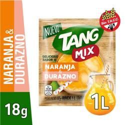 Polvo para preparar jugo Tang Naranja-Durazno x 18 g.