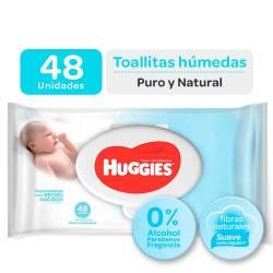 Toallitas Húmedas Huggies Puro y Natural x 48 un.