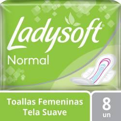 Toalla Higiénica Ladysoft Suave con Alas x 8 un.