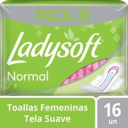 Toalla Higiénica Ladysoft Suave con Alas x 16 un.
