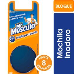Pastilla para Inodoro Mr. Musculo Mochila Azul x 40 g.