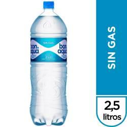 Agua Mineral sin gas Bonaqua x 2500 cc.