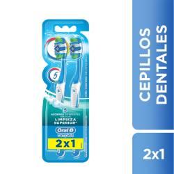 Cepillo Dental Suave Limpieza 2x1 Oral-B x 2 un.