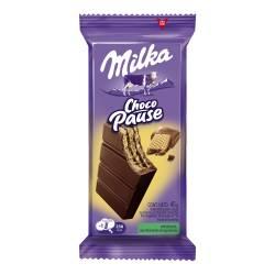 Oblea Rellena y Cubierta con Chocolate Milka Pause x 45 g.