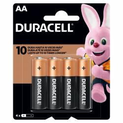 Pila Alcalina AA Duracell x 4 un.
