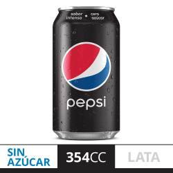 Gaseosa Cola Lata Pepsi Black Lata x 354 cc.