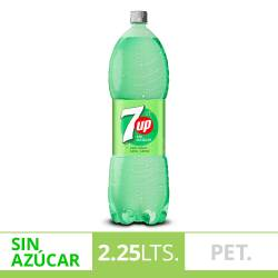 Gaseosa Seven Up Free Lima Limón Pet x 2,25 lt.
