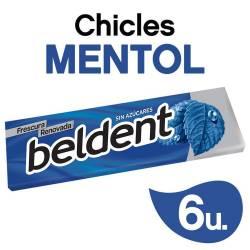 Chicles Beldent Mentol x 10 g.