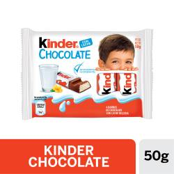 Chocolate con Leche Kinder x 4 un. x 50 g.