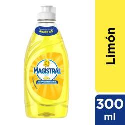 Detergente Líquido Espuma Activa Magistral Limón x 300 cc.