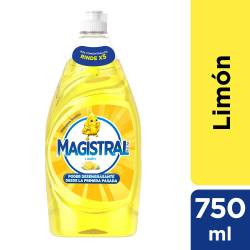 Detergente Líquido Espuma Activa Magistral Limón x 750 cc.