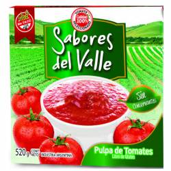 Pulpa de Tomate Sabor del Valle x 520 g.
