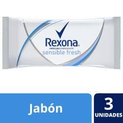 Jabón de Tocador Rexona Sensible Fresh x 375 g.