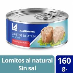 Atún al Natural en Lomos s/ sal agregada La Anónima x 160 g.