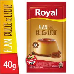 Flan de Dulce de Leche Royal x 40 g.