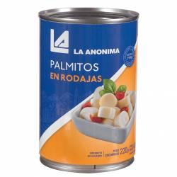 Palmitos en Rodajas La Anónima en Rodajas x 400 g.