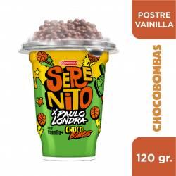 Postre Vainilla Serenito con Bombas Crocantes x 118 g.