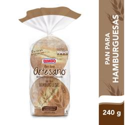 Pan para Hamburguesas Artesano x 4 un. Bimbo x 240 g.
