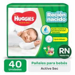 Pañal Huggies Active Sec RN x 40 un.