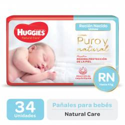 Pañal Huggies Natural Care RN x 34 un.