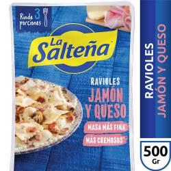 Ravioles La Salteña Jamón y Queso x 500 g.