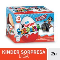 Huevo de Chocolate con Sorpresa Kinder Liga Justicia x 40 g.