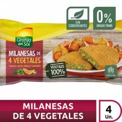 Milanesa de 4 Vegetales x 4 un. Granja del Sol x 320 gr.