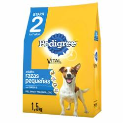 Alimento para Perro Vegetales Pollo Adulto R/P ET2 Pedigree x 1,5 kg.