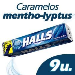 Caramelos Halls Mentol Eucalipto x 25 g.