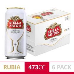 Cerveza Stella Artois Pack x 6 Latas de 473 cc.