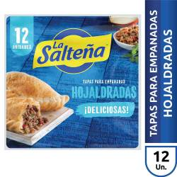 Tapas Hojaldradas para Empanadas La Salteña x 12 un. 330 g.