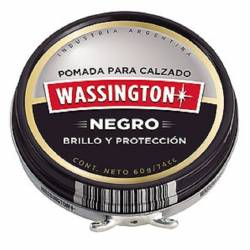 Pomada Lata Wassington Negro x 60 g.