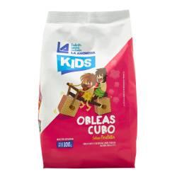 Obleas Cubo Kids Frutilla La Anónima x 100 g.