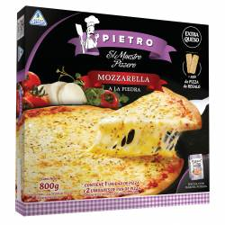 Pizza Mozzar.+2U.Pan de Pizza Pietro x 800 gr.