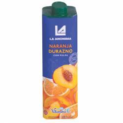 Jugo de Naranja-Durazno con Pulpa La Anónima x 1 Lt.