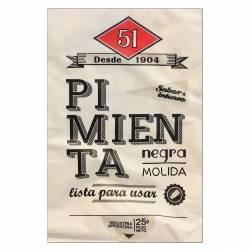 Pimienta Molida 51 Negra en Sobre x 25 g.