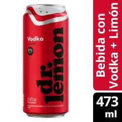 Dr. Lemon Vodka Lata sabor Limón x 473 cc.