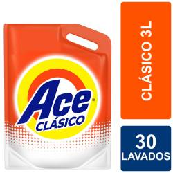 Detergente Líquido Ace Acción Instantánea Doy Pack x 3 lt.