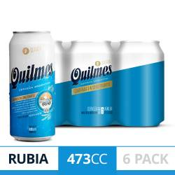 Cerveza Quilmes Clásica Pack x 6 Latas de 473 cc.