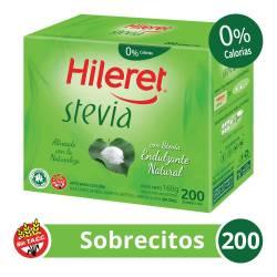 Endulzante Sobres Hileret Stevia x 200 un.