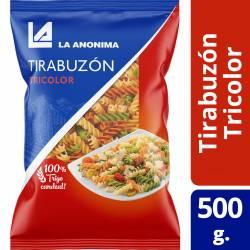 Fideos Tirabuzón Tricolor La Anónima x 500 g.
