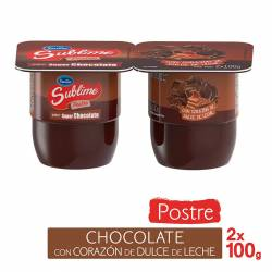 Postre Sublime Chocolate con Corazón de Dulce de Leche x 2 un. x 200 g.